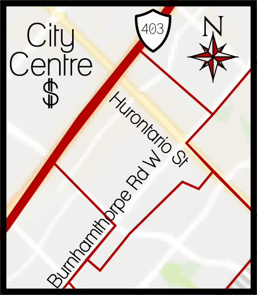 City Centre MLS Map, City Centre Boundary Map