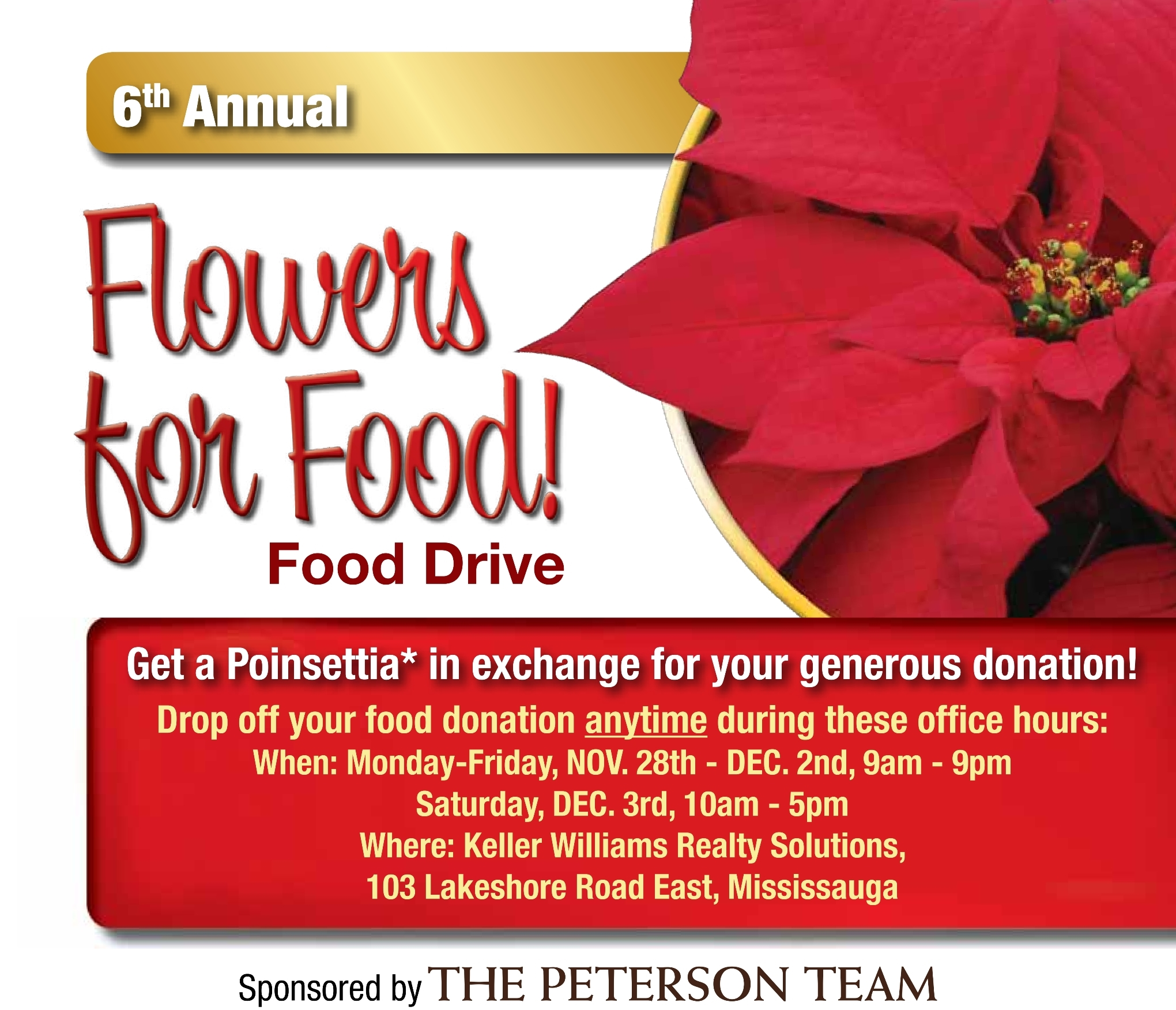 Flowers For Food - The Compass Food Bank Of Mississauga