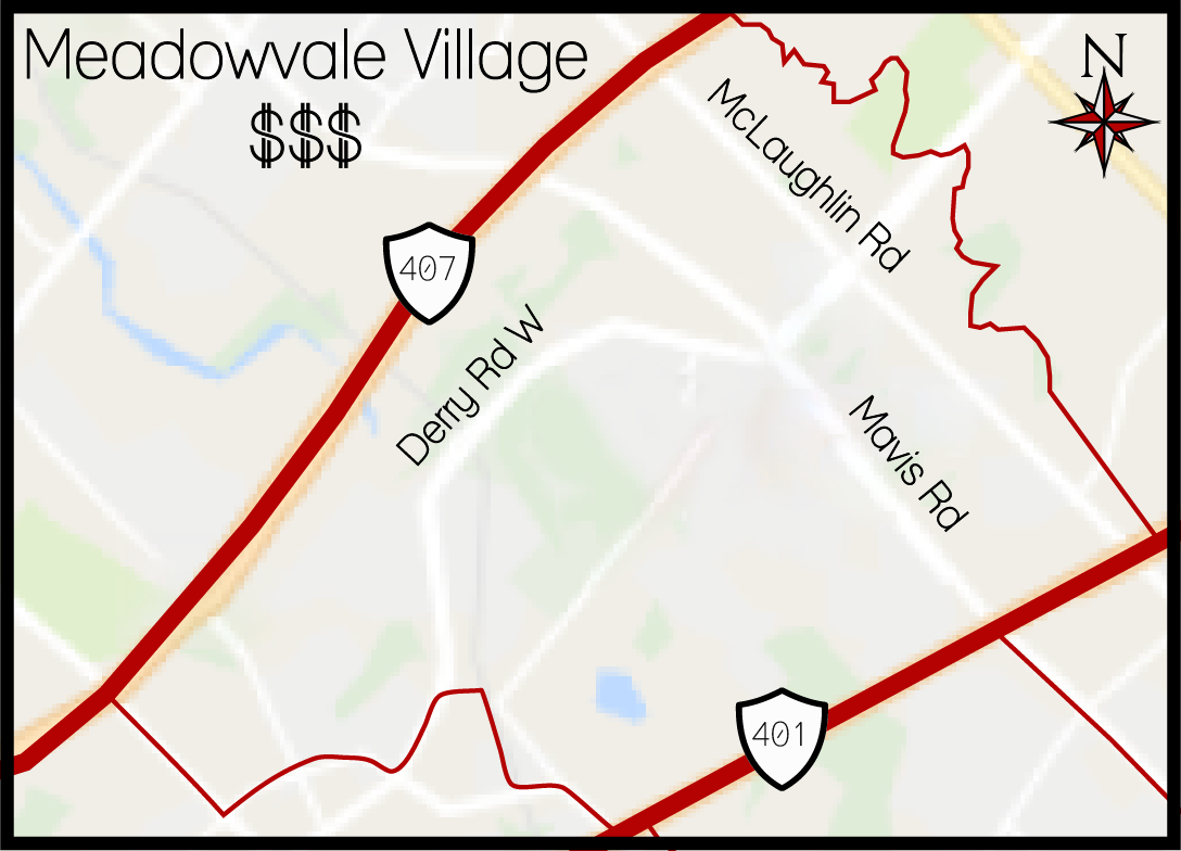 Meadowvale Village MLS Map