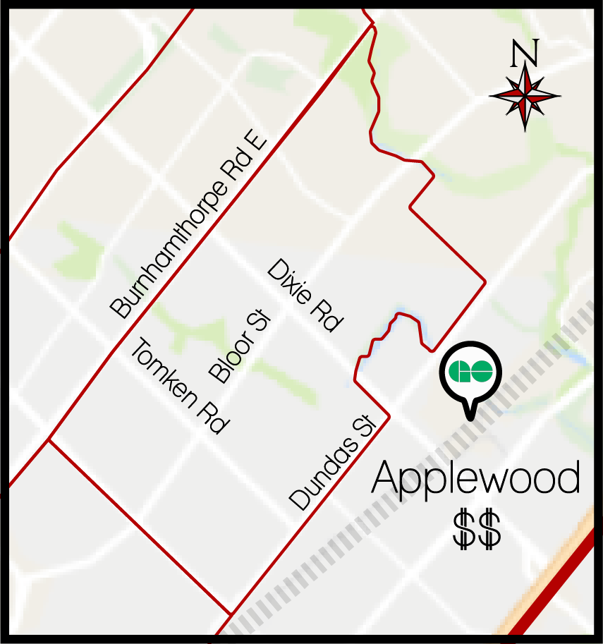 Applewood MLS Map