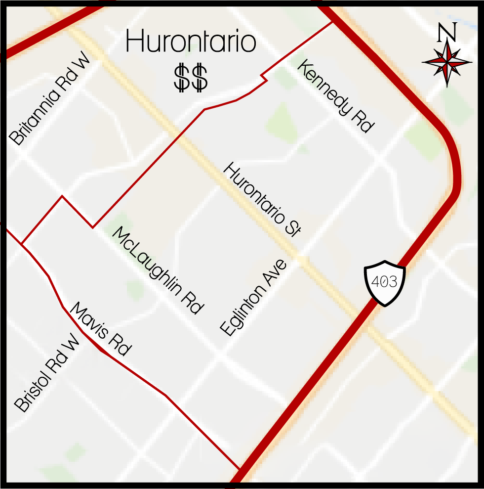 Hurontario MLS Map, Hurontario Boundary Map