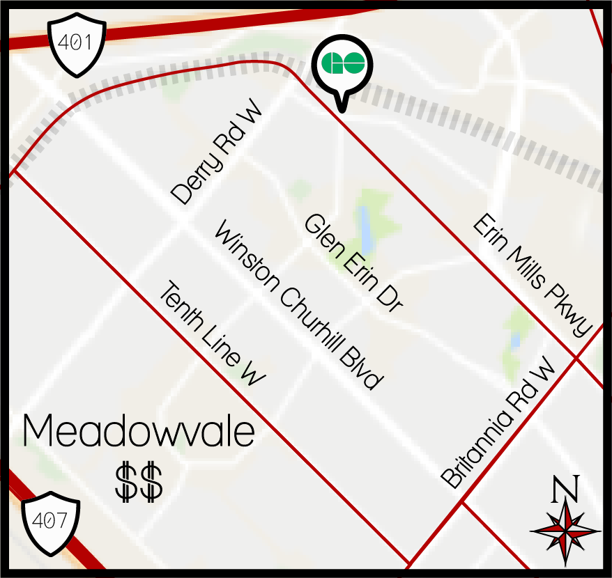 Meadowvale MLS Map